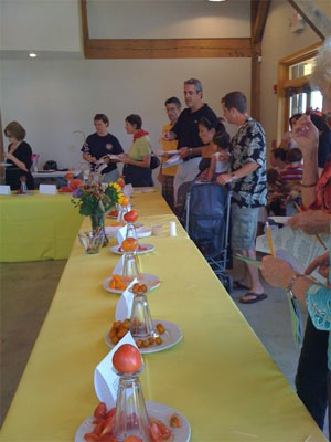 Ozark Slow Food's Tomato Tasting at the Botanical Gardens of the Ozarks