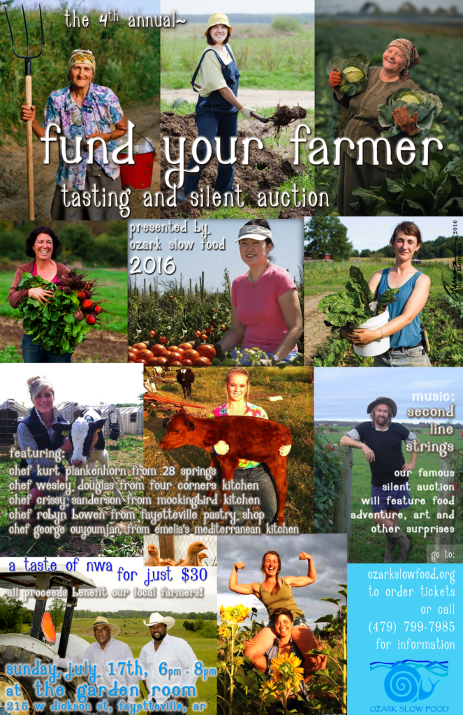 Ozark Slow Food's Fund Your Farmer event July 17th